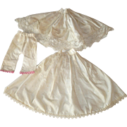 19th Century Linen Under Layers from China Doll 2 Petticoats and Pantaloons with Lace