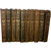 10 Leather Bound Volumes George Elliot 1906 Thomas Nelson and Sons New York Publisher