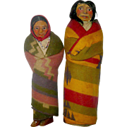 Two Early Mary Frances Woods American Indian Portrait Dolls