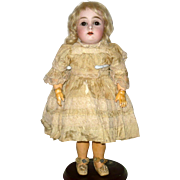 11 Inch Kestner Bisque Head 173 Brown SE Square Teeth Original Costume Blond Wig Plaster Pate Jointed Body