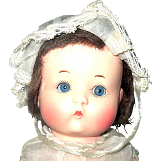 9 Inch Armand Marseilles Painted Bisque Just Me Original Bobbed Wig Play Suit Bonnet Shoes