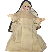 9 Inch Bisque Head 1910 AM Nun Doll Fully Jointed Body Sleep Eyes