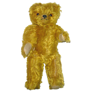 15 Inch Gold Mohair Hump Back 1930's Bear with Sweet Expression
