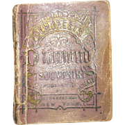 Tiny 1869 Demorest Diamond Souvenir Book with Fashion Information
