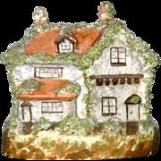 19th Century Staffordshire English Tudor Coin Bank Chimney Ornament