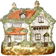 19th Century Staffordshire English Tudor Coin Bank Chimney Ornament
