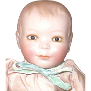 10.5 Inch Scarce Bisque Head Grace Putnam Fly-Lo Brown Sleep Eyes Pink Satin Body Suit No Wings