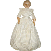 15 Inch Poured Wax Charles Pierotti Doll Layered Costume Sparse Rooted Blond Hair