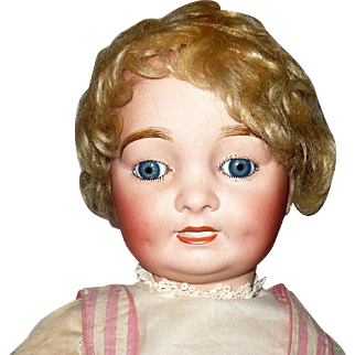19 Inch French 1915 Bisque Head CAPRICE Character by A. Lanternier & CIE