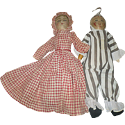 Bruckner Topsy Turvy and Clown with Crispy Costumes Nice Faces for Restoration or Parts