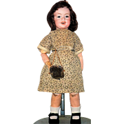 13 Inch SFBG 229 French Bisque Head Character Girl Hazel Jewel Eyes