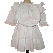 Palest Pink Bloused Drop Waist Doll Dress
