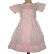 Pink Lawn Factory Doll Dress Ribbon Waist Ties
