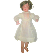 Antique White Work Dress for 14 Inch Doll