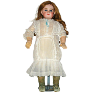 13 Inch Hand Stitched Edwardian White Lawn Drop Waist Doll Dress