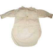 Hand Stitched Antique Ivory Linen Shirt for Fashion or China Man