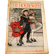 2 The Housewife 1912 Magazines and 3 Ladies Home Journal 1890 Magazine