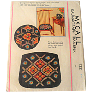 1933 McCall Hooked Seat Chair and Mat Pattern+2 Iowa State Extension Service Booklets