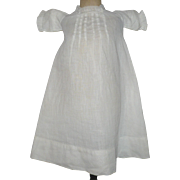 14.5 Inch Hand Stitched White Lawn Dress or Gown