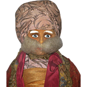 1936 Molly-'es Velvet Face 22 Inch Sultan Character from Thief of Bagdad 2 Tags