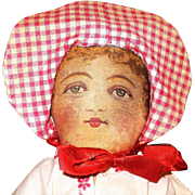 13 Inch 1901 Patent Bruckner Flat Face Cloth Maiden in Sun Bonnet
