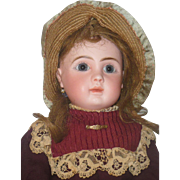 Old Woven Straw and Silk Doll Bonnet