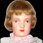 Fine 22 Inch 1920's Dora Petzold Reform Art Doll Great Face Clean Body Original Dress & Shoes
