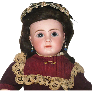 17 Inch Figure A  Bebe Steiner Signed Body Head Shoes Azure Eyes Crier