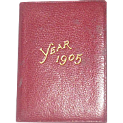 "Cora Whitakker's 2"" x1.5"" Petite Calender and Stamp Case 1905"