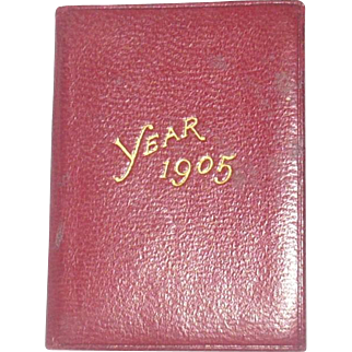 """Cora Whitakker's 2"""" x1.5"""" Petite Calender and Stamp Case 1905"""