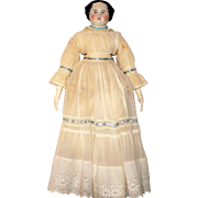 23 Inch 1860's China Linen Body Layered Costume