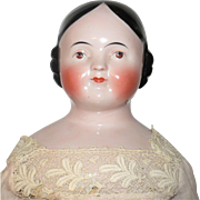28 Inch Pink Tint Kestner Covered Wagon China  Brown Eyes Beautiful Face