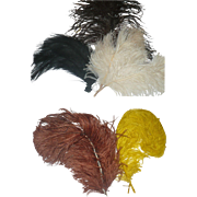 7 Victorian Hat Plumes to Trim Hats or Doll Hats