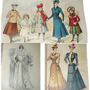 3 Volumes of The Delineator A Journal of Fashion Culture and Fine Arts *October 1897 * May 1898 * October 1899