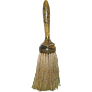 19th Century Wood and Horse Hair Clothes Brush  with Painted Marble Finish