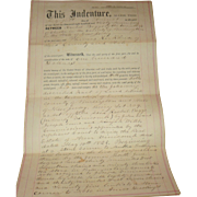 1867 Burlington County NJ Indenture Between  Rachael Boggs Chester NJ and Phineas Kirkbride Evesham NJ