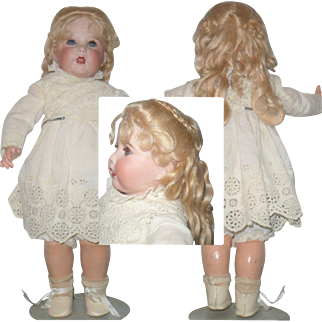 13 Inch S.F.B.J. 251 Character Toddler Blue Sleep Eyes