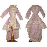 Long Hand Stitched Fashion Jacket with Bustle Back  Train for Lady Doll