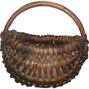 2.5 Inch 19th Century Miniature New Jersey Splint Buttocks Basket