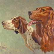 "American Art - ""Kim & Sheila"":  Original Oil Painting Illustration"