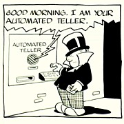 American Art - W.C. Fields: the ATM - 1983 LA Times Original Cartoon Art
