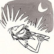 American Art - He Could Sleep: Original 1960 Cartoon Art by Claude