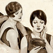 "American Art - Raymond James Stuart (1882 - ?) ""What folly to endure coarse pores"" Original Ad Art c. 1910s"