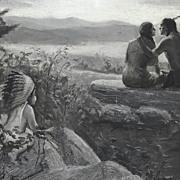 American Art - The Great Spirit: Vintage Story Illustration Original Oil Painting