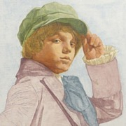 American Art – The Kid From Oliver: Original Watercolor by Stuart Kaufman