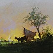 Vintage Watercolor - Manzke: Gauchos, Rio Grande do Sul