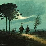 Vintage Watercolor - Manzke: Pinheiro-do-parana, Rio Grande do Sul