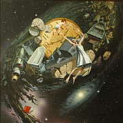 American Art - Jim Thiesen - Mother Time - Vintage Original Illustration Art
