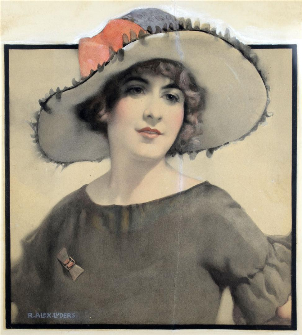American Art - Alex Luders: Vintage Original Glamour Illustration Art