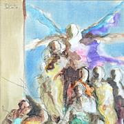 "Paul Conte (French, b 1947) - ""Scene de Triumphe"" – Original Acrylic on Canvas - Red Tag Sale Item"